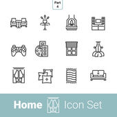 Home line icon set Part 4 Living room
