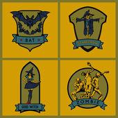 Halloween vector emblems Set Vector emblems