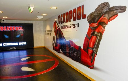 Deadpool Movie Promotional Mural