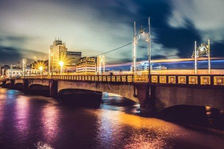 Bridge in Recife at night