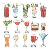Cocktails collection Vector Set
