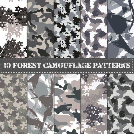 Illustration pour Peut être utilisé pour la conception de fond, textile militaire . - image libre de droit