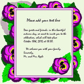 Invitation to the theme of autumn and autumn holidays viola flow