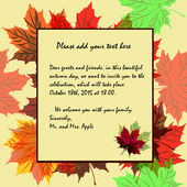 Invitation to the theme of autumn and autumn holidays in rich co