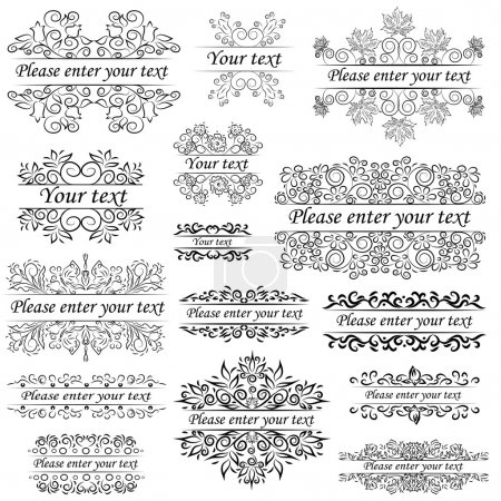 Group objects, ornaments and beautiful frames in ethnic style an