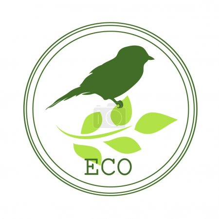 Sticker, icon or logo for organic products, when you create or t