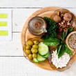 Foods containing vitamin E: walnuts, sunflower see...