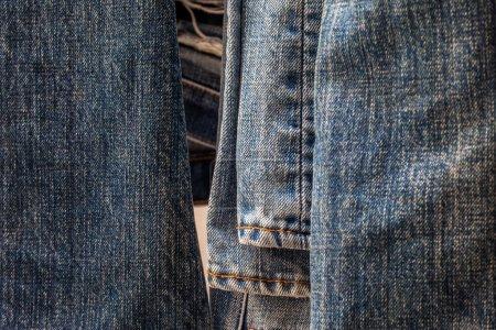 Photo pour Jeans fond et texture - image libre de droit