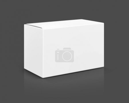 blank packaging white cardboard box isolated on gray background