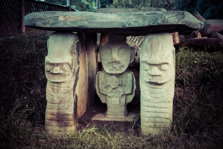 Idols of san augustin national park, colombia, latin america