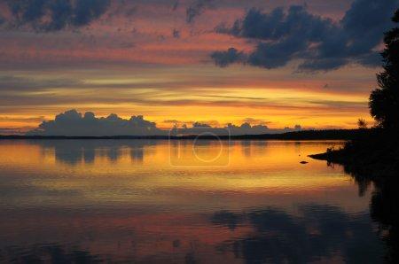 Colorful Karelian sunset