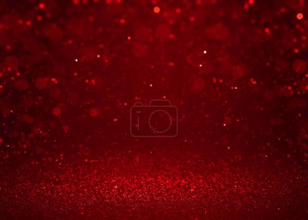 Photo for Abstract red sparkling glitter fashion background. Shining sequins sparkles christmas wallpaper - Royalty Free Image