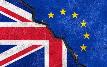 Brexit. Great Britain exit of EU art illustration