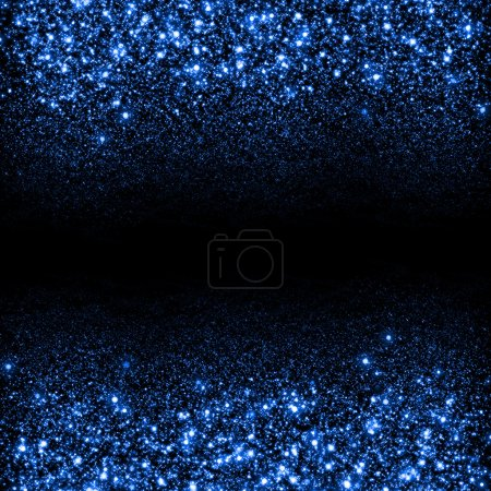 Foto de Resumen azul brillo brillo de fondo. Fondo de estrellas de brillo. Fondo de flujo chispeante - Imagen libre de derechos