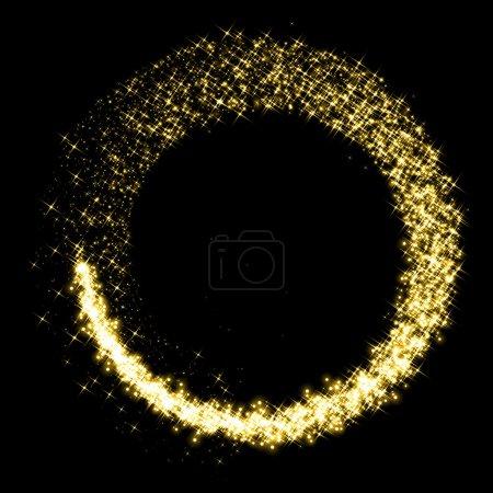 Photo pour Gold étoile poussière étincelant cercle - image libre de droit