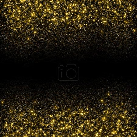 Foto de Fondo brillo brillo oro. Fondo de estrellas de brillo. Fondo de flujo chispeante - Imagen libre de derechos