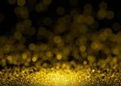 """Постер, картина, фотообои """"Расфокусированным фон огни блеск золотой блеск"""""""