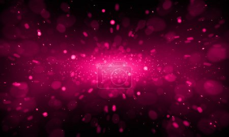 Photo for Defocused red sparkle glitter lights background. Glitter space bokeh background - Royalty Free Image