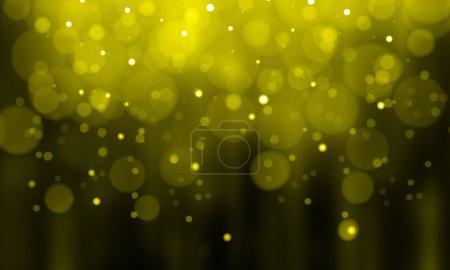 Defocused gold sparkle glitter lights background
