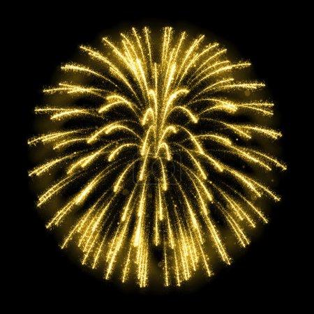 Gold glittering sparkle fireworks