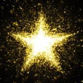 Zlaté třpytivé hvězda hvězdami