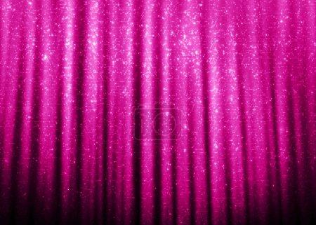 Foto de Brillo rosa brillo cortinas fondo . - Imagen libre de derechos