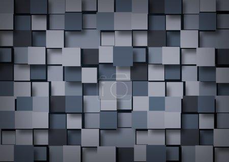 Photo pour Fond texturé abstrait de cubes de volume bleu-gris - image libre de droit