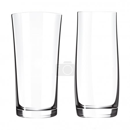 Empty drinking highball glass cup