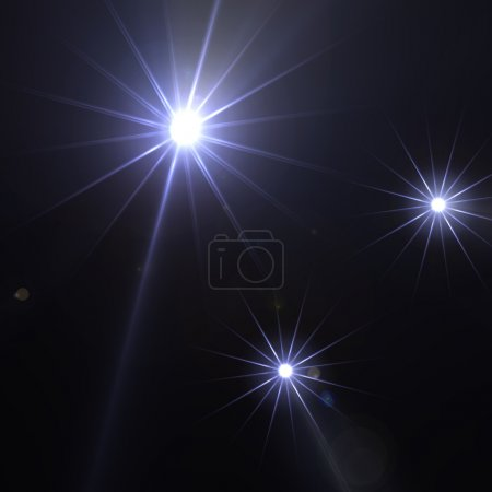 Sparkling stars with light diffraction