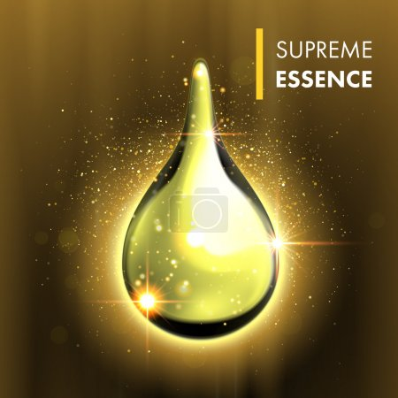 Supreme essence gold premium shining oil drop