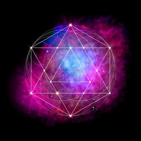 Sacred geometry symbol. Flower of life sign