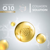 Supreme Q10 enzyme drop essence with DNA helix