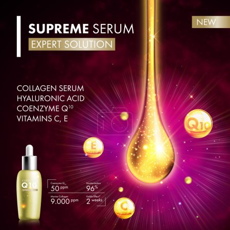 Coenzyme Q10 collagen serum essence drops