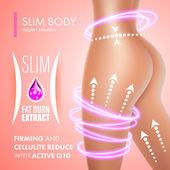 Cellulite bodycare skin firming solution design