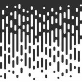 Vector Seamless Black And White Irregular Rounded Lines