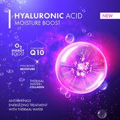 Hyaluronic Acid Moisture Boost Collagen pink bubble