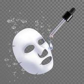 Vector 3d sheet facial mask moisture treatment