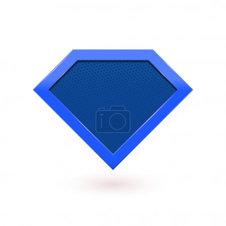 Super hero comic character label emblem