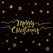 Veselé Vánoce - zlaté třpytivé nápisy