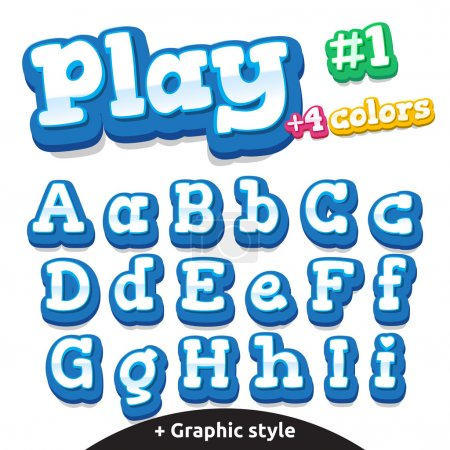 Vector funny video game letters set. Latin uppercase and lowercase