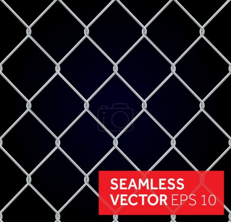 Vector seamless wired fence background