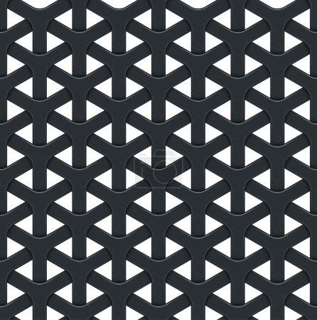 Illustration pour Fond vectoriel abstrait foncé avec une grille métallique. Texture sans couture - image libre de droit