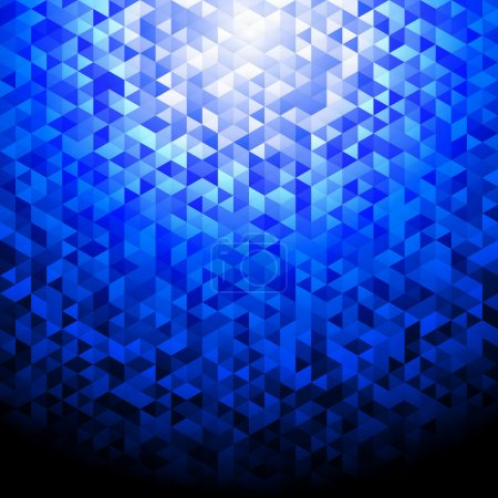 Blue glittering lamina sequins mosaic angular dime...