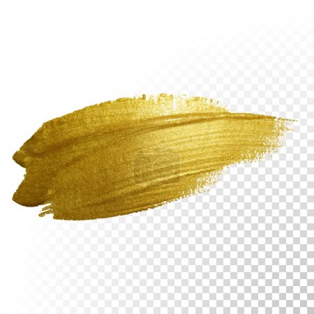 Illustration for Vector gold paint brush stroke. Abstract gold glittering textured art illustration. - Royalty Free Image