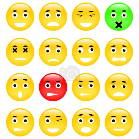 Illustration for Set of Emoticons. Isolated vector illustration - Royalty Free Image