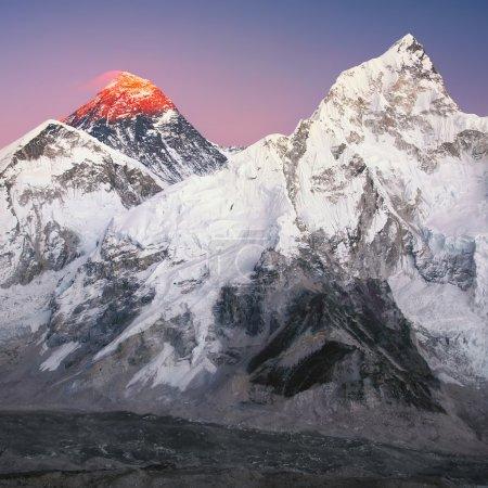 Mt. Everest and Nuptse