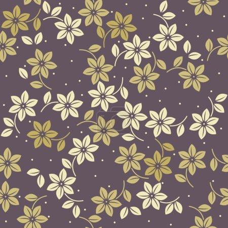 Illustration pour Élégant motif sans fin avec des fleurs et des feuilles décoratives peut être utilisé pour le papier peint, lin, tuile, tissu design et des conceptions plus créatives . - image libre de droit