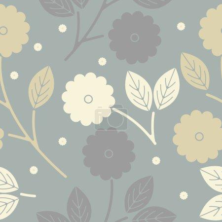 Illustration pour Modèle élégant sans couture avec des feuilles tropicales peut être utilisé pour le tissu design, draps, vêtements pour enfants, papier peint, cartes de vœux et des conceptions plus créatives . - image libre de droit