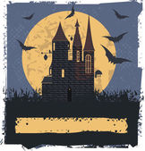Happy Halloween card  with Witch Castle for your designs