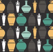 Stylih seamless pattern with vases